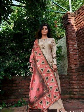 oat pashmina fabric digital print work casual
