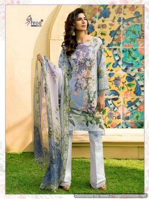 multi jam silk fabric print with embroidery work reguler