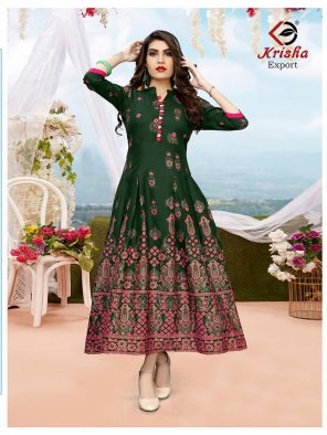 batli green reyon fabric printed work fastive