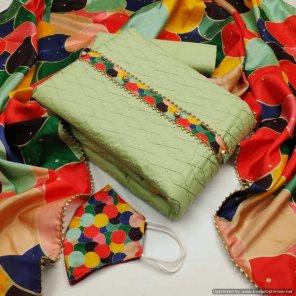 pista cotton fabric digital print work casual