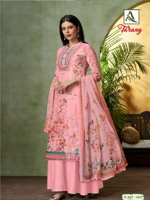 pink pashmina fabric digital print work festival