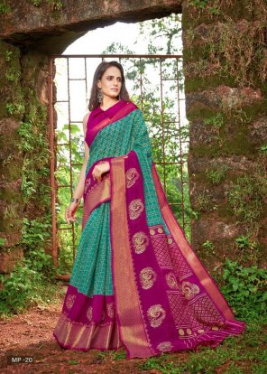 rama cotton silk fabric printed work festival