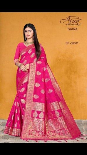 pink cotton silk fabric weaving work festival