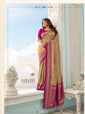purple handloom silk fabric printed work festival