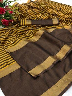 coffee soft cotton silk fabric printed work festival