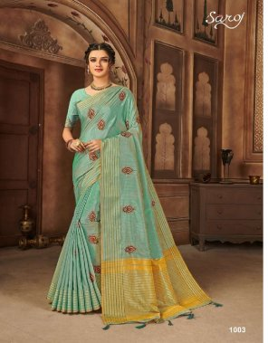 rama slik fabric silk saree work running