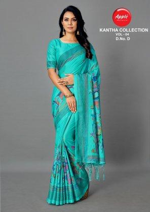 cream art silk fabric silk saree work wedding