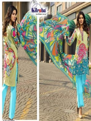 multi cotton fabric digital print work fastive
