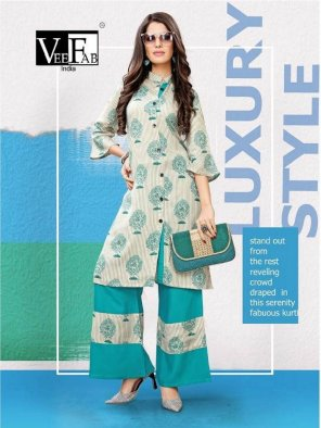 multi reyon fabric printed work casual