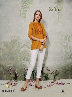 poppy orange rayon fabric embroidery work casual