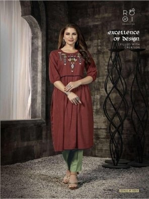 maroon cotton fabric embroidery work casual