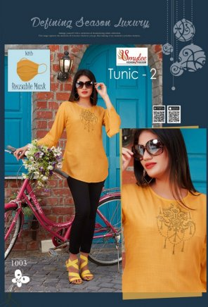 golden yellow rayon fabric embroidery work casual