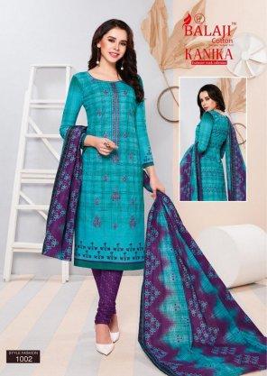 cerulean blue cotton fabric printed work running