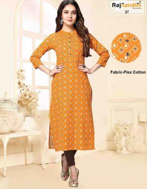 yellow pure cotton fabric printed work running
