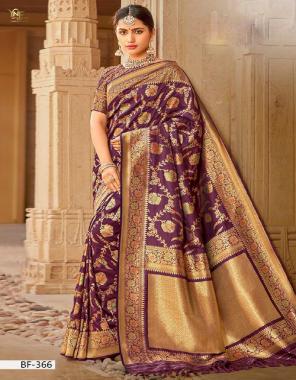 burgandi banarasi silk fabric jacquard work wedding