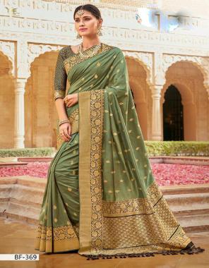 mehndi  banarasi silk fabric jacquard work ethnic