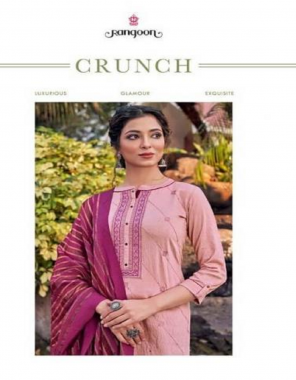 pink top - heavy viscose with 2m squence leriya wrok 3mm embroidery neck work | inner - cotton | bottom - jam silk with 3mm sequence work | dupatta - fancy fabric embroidery + seequence work running