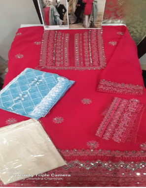 pink top - heavy net | bottom + inner - santoon | dupatta - heavy net fabric embroidery + fancy work wedding