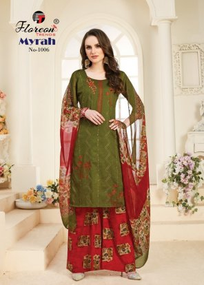 mahendi glace cotton fabric embroidery work casual