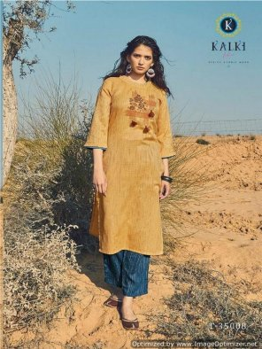 gold yellow ?viscose cotton fabric embroidery work casual