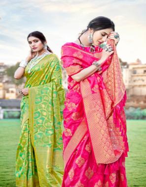 pink soft silk weaving fabric weaving  work ethnic