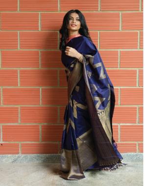 blue kanchivaram kota silk fabric jacqaurd  work wedding