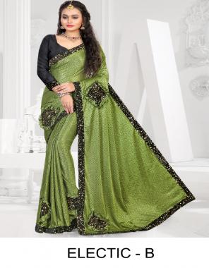 mehndi  imported lycra  fabric fancy work party wear