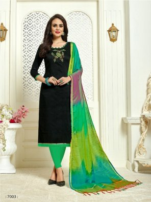 black banarasi silk fabric hand work work festive