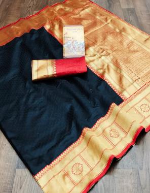 black soft kanchipuram silk fabric jacqaurd work ethnic