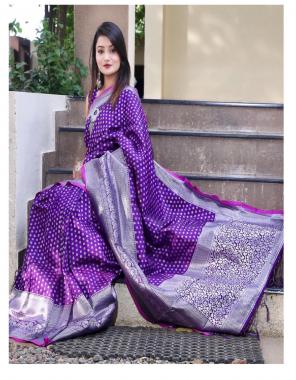 purple  lichi silk  fabric zari weaving work ethnic