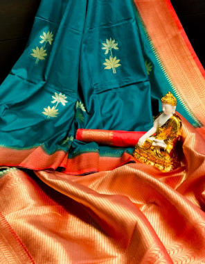 rama  pure dola silk fabric jacqaurd  work wedding