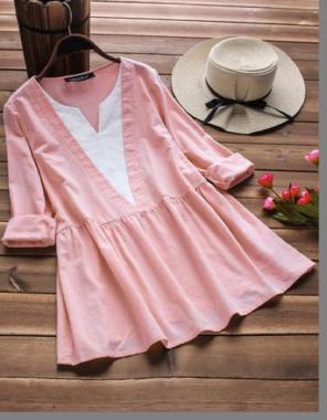 light pink cotton fabric plain work wedding