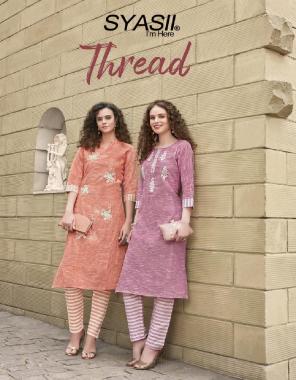 pink pure cotton khadi fabric embroidery work wedding