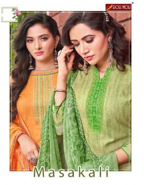 orange top - cambric cotton print | bottom - pure cotton 2.70m | dupatta - nazmin print 2.10m fabric printed work wedding