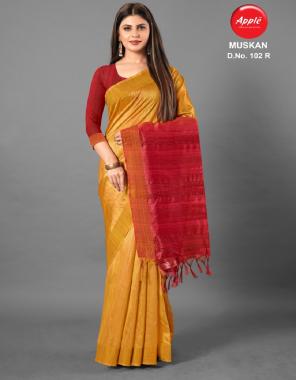 yellow cotton silk fabric jacqaurd weaving  work casual