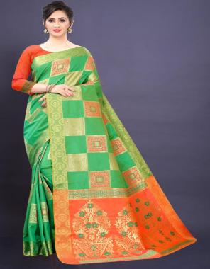 parrot silk fabric jacqaurd weaving  work wedding