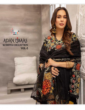 black top - pure lawn cotton with self embroidery work | bottom - semi lawn |dupatta - embroidery net(pakistani copy ) fabric embroidery work festive