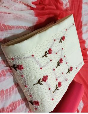 white top - semi modal | bottom + inner - heavy santoon | dupatta - nazmin shaded  fabric handwork work casual