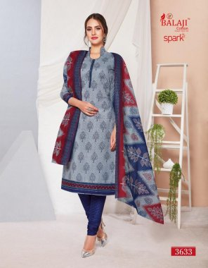 stone blue cotton fabric printed work casual