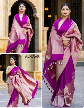 wine banarasi silk fabric weaving jacqaurd  work wedding