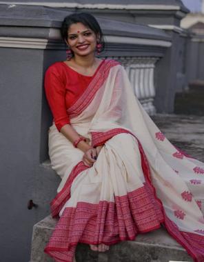 white fabric - original chanderi linen with digital  print | blouse - banglori satin plain fabric digital print work party wear