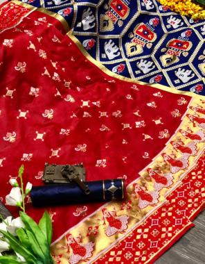 red patola  fabric weaving jacqaurd  work wedding