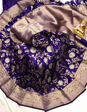blue pure lichi silk fabric weaving jacqaurd  work party wear