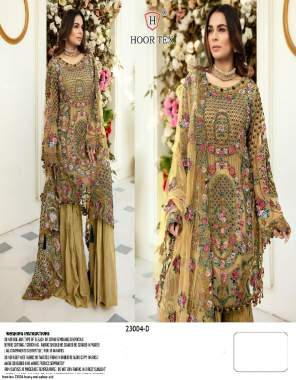 yellow top - heavy net with embroidery stone work | bottom + inner - santoon | dupatta - net with heavy embroidery work | type - semi stitch fabric embroidery stone work party wear