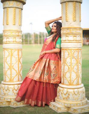marron  pathani silk fabric jacqaurd weaving work wedding
