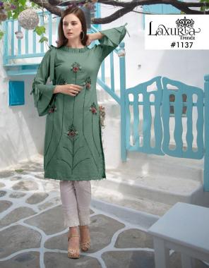 green top - muslin | inner- pure santoon |pant - cotton strachable fabric fancy work wedding