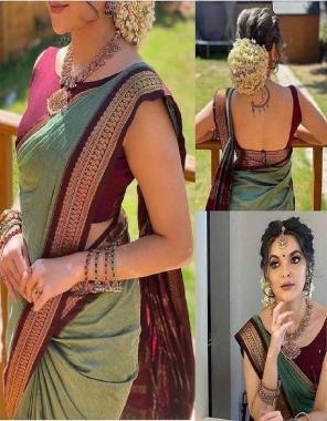 mehndi soft lichi silk fabric weaving jacqaurd  work ethnic