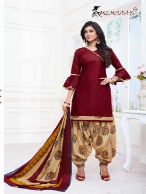 maroon cotton fabric printed work casual