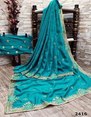 rama pure vichitra silk fabric embroidery fancy work ethnic