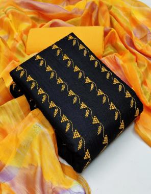 black top - slub cotton 2m | bottom - cotton2m | dupatta - rainbow banarasi 2.25m fabric printed work casual